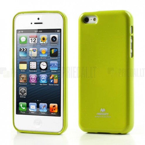"""""""Mercury"""" Color kieto silikono (TPU) žalias Apple iPhone 5C dėklas (dėkliukas)"""
