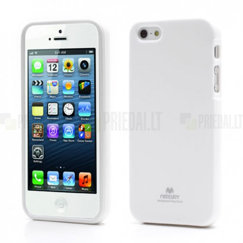 """""""Mercury"""" Color kieto silikono (TPU) baltas Apple iPhone SE (5, 5s) dėklas (dėkliukas)"""