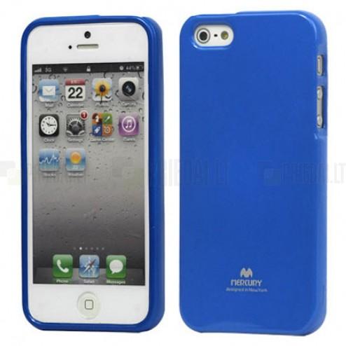 """""""Mercury"""" Color kieto silikono (TPU) mėlynas Apple iPhone SE (5, 5s) dėklas (dėkliukas)"""