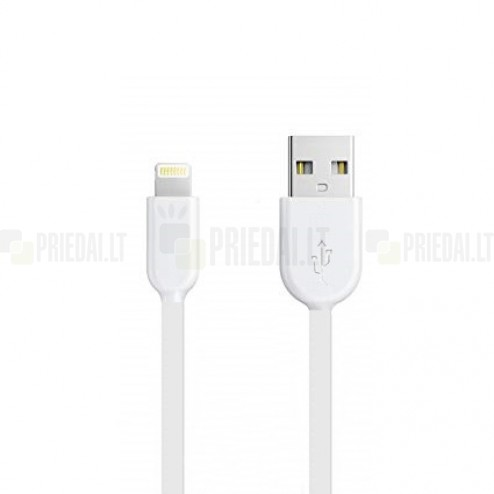 Forever Lightning USB baltas laidas skirtas iPhone 6, 6 Plus, 5, 5S, iPad Air, iPad mini, iPod (MFi sertifikatas)