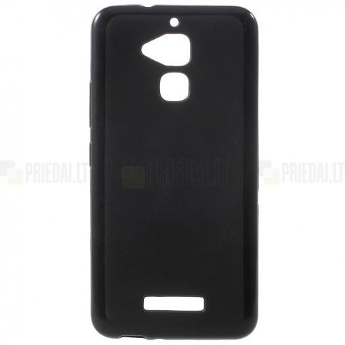 Asus Zenfone 3 Max (ZC520TL) kieto silikono TPU juodas dėklas - nugarėlė