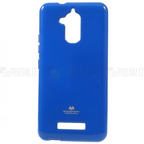 Asus Zenfone 3 Max (ZC520TL) tamsiai mėlynas Mercury kieto silikono (TPU) dėklas