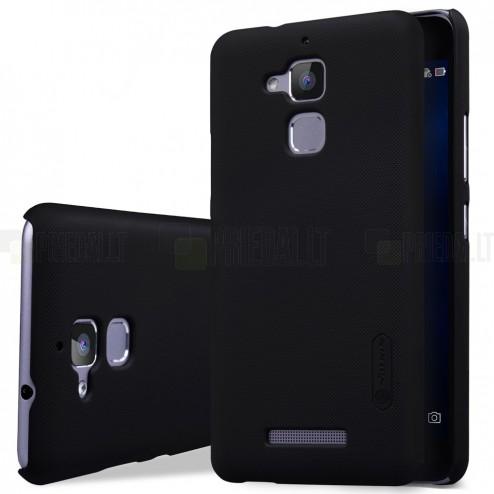 Asus Zenfone 3 Max (ZC520TL) Nillkin Frosted Shield juodas plastikinis dėklas + apsauginė ekrano plėvelė