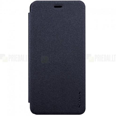 Asus Zenfone 3 Max (ZC520TL) pilkas odinis atverčiamas Nillkin Sparkle dėklas - knygutė