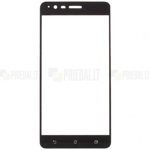 "Asus Zenfone 3 Zoom (ZE553KL) ""Calans"" 9H Tempered Glass sustiprintos apsaugos juodas pilnai dengiantis apsauginis ekrano stiklas 0,2 mm"