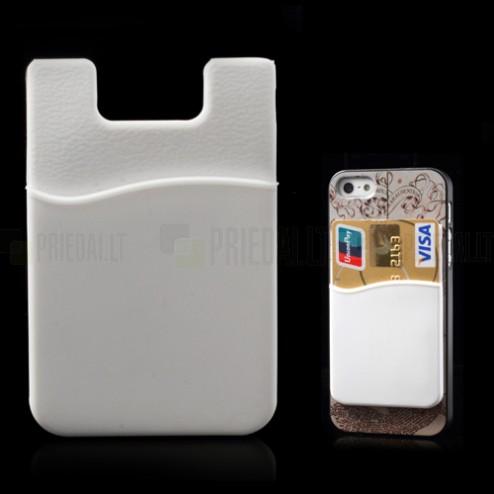 Baltas kortelės dėklas - kišenė
