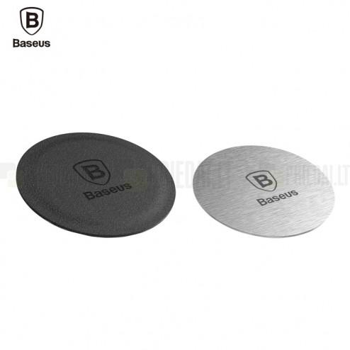 """""""Baseus"""" Magnet Iron lipdukų komplektas (magnetiniam automobilio laikikliui) - juodas / sidabrinis"""