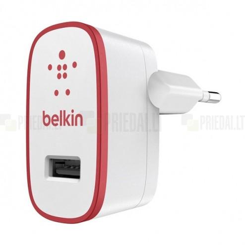 """""""Belkin"""" MIXIT↑™ Wall Charger kelioninis (sieninis) tinklo įkroviklis - baltas / raudonas (2100 mA)"""