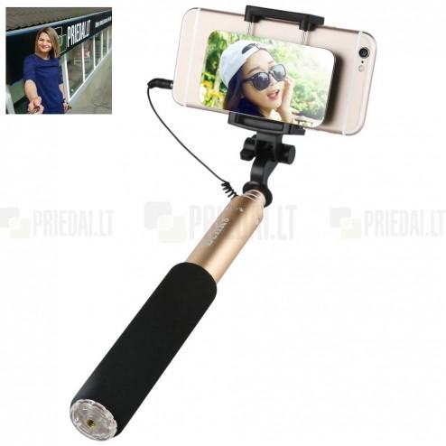 """""""Benks"""" teleskopinė asmenukių (selfie) auksinė fotogravimo lazda (laikiklis) - monopod"""