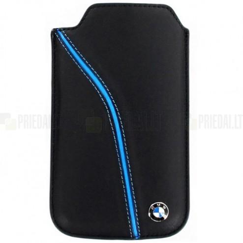 """BMW"" juoda odinė įmautė telefonui (L dydis - Apple iPhone 6)"