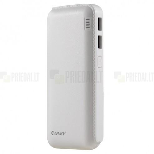 Cager B16 atsarginė išorinė lyčio jonų baterija (akumuliatorius, 12000 mAh), angl. Power bank - balta