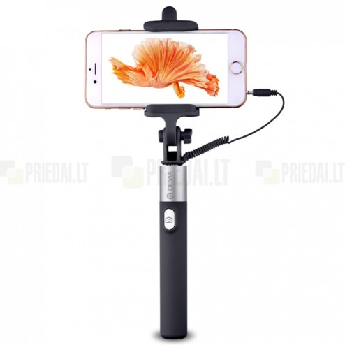 """""""Devia"""" Focus Selfie Stick teleskopinė asmenukių juoda fotogravimo lazda (laikiklis) - monopod"""