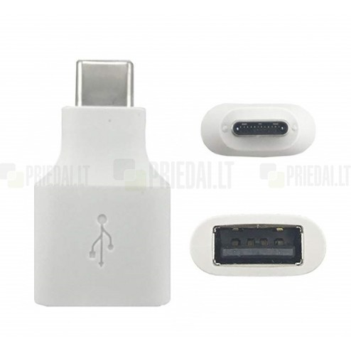 """Google"" Pixel USB OTG Type-C adapteris baltas"