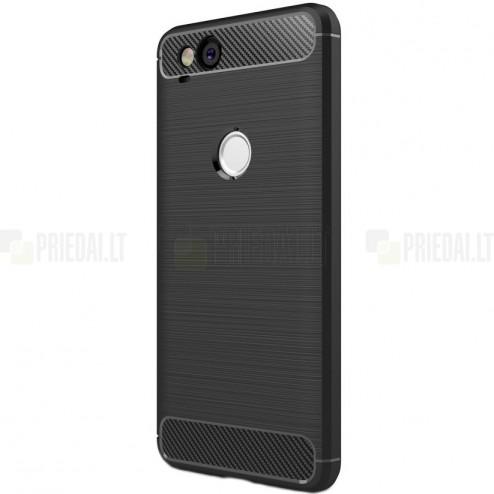 """Google Pixel 2 """"Carbon"""" kieto silikono TPU juodas dėklas - nugarėlė"""