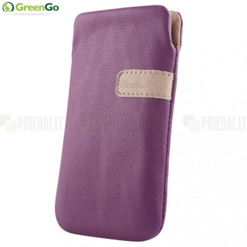 """""""GreenGo"""" Fiesta violetinė odinė įmautė - įdėklas (M dydis)"""