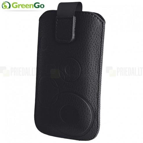 """""""GreenGo"""" Vinci juoda odinė įmautė - įdėklas (M dydis)"""
