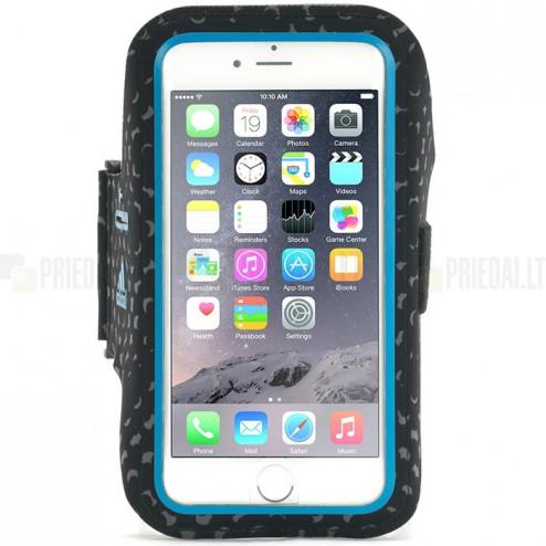 """""""Griffin"""" Adidas miCoach Sport Armband dėklas sportui (raištis ant rankos) - mėlynas, universalus (L dydis)"""