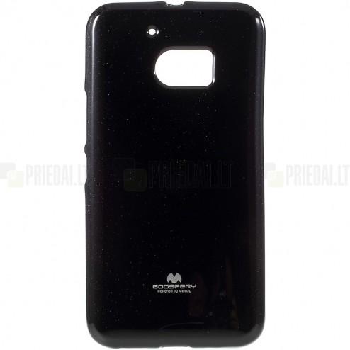HTC 10 (M10 Lifestyle) juodas Mercury kieto silikono (TPU) dėklas - nugarėlė
