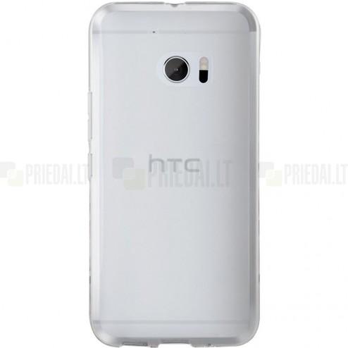 HTC 10 (M10 Lifestyle) skaidrus (permatomas) kieto silikono TPU ploniausias pasaulyje bespalvis dėklas