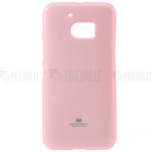 HTC 10 (M10 Lifestyle) šviesiai rožinis Mercury kieto silikono (TPU) dėklas - nugarėlė