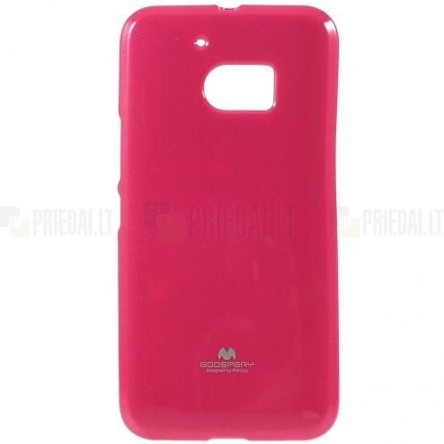 HTC 10 (M10 Lifestyle) tamsiai rožinis Mercury kieto silikono (TPU) dėklas - nugarėlė