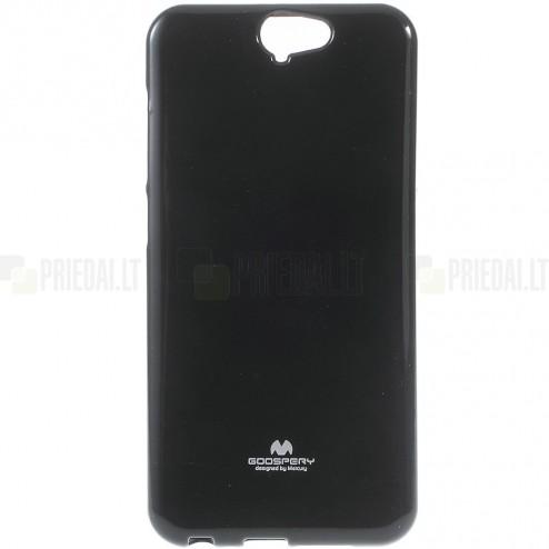 HTC One A9 juodas Mercury kieto silikono (TPU) dėklas - nugarėlė