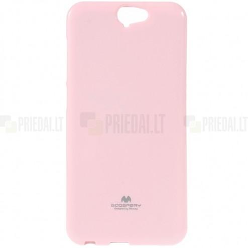HTC One A9 šviesiai rožinis Mercury kieto silikono (TPU) dėklas - nugarėlė