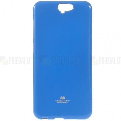 HTC One A9 tamsiai mėlynas Mercury kieto silikono (TPU) dėklas - nugarėlė