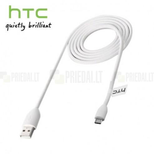 Oficialus baltas HTC micro USB laidas DC-M410