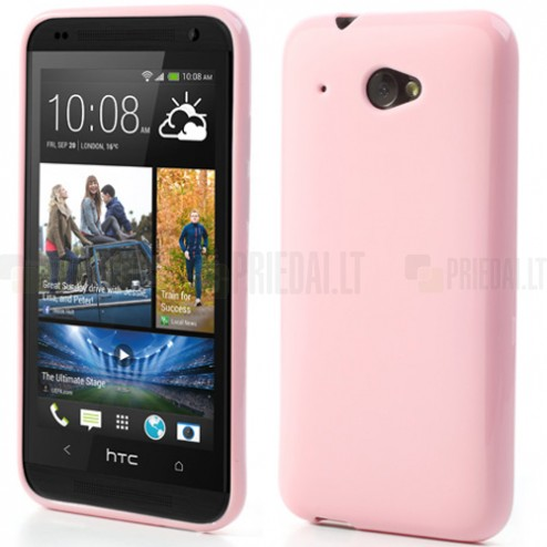 """""""Jelly Case"""" HTC Desire 601 rožinis dėklas"""