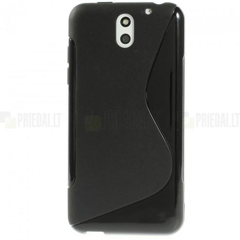 HTC Desire 610 kieto silikono TPU juodas dėklas - nugarėlė
