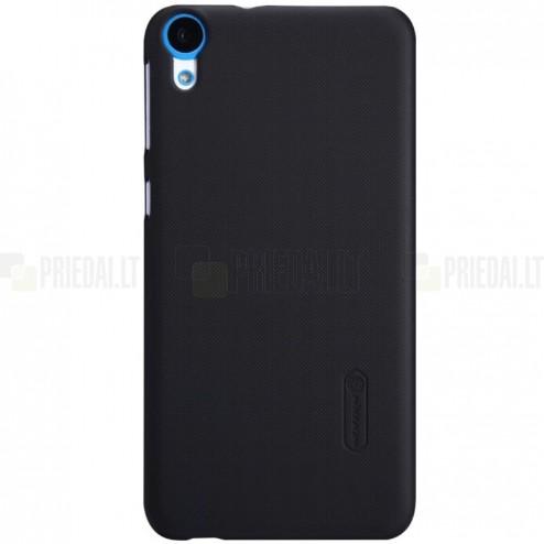 HTC Desire 820 Nillkin Frosted Shield juodas plastikinis dėklas + apsauginė ekrano plėvelė