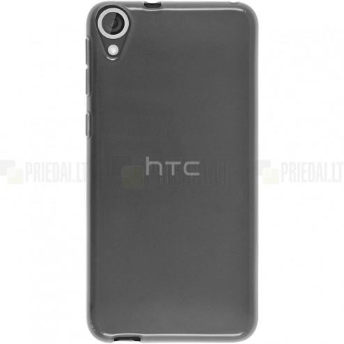 HTC Desire 820 skaidrus (permatomas) kieto silikono TPU ploniausias pasaulyje pilkas dėklas