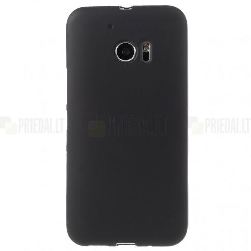 HTC 10 (Lifestyle) kieto silikono TPU juodas dėklas - nugarėlė