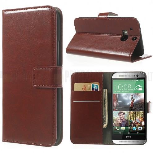 """""""Crazy Horse"""" HTC One M8 rudas odinis atverčiamas dėklas"""