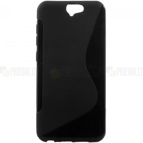 HTC One A9 kieto silikono TPU juodas dėklas - nugarėlė
