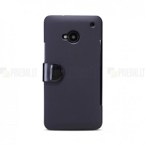 """""""Nillkin"""" Victory atverčiamas HTC One M7 juodas dėklas"""