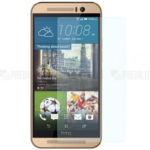 HTC One M9 Tempered Glass sustiprintos apsaugos apsauginis ekrano stiklas 0,33 mm