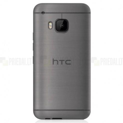 HTC One M9 skaidrus (permatomas) kieto silikono TPU ploniausias pasaulyje bespalvis dėklas