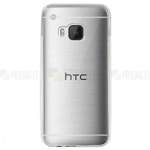 HTC One M9 plastikinis skaidrus (permatomas) dėklas - nugarėlė