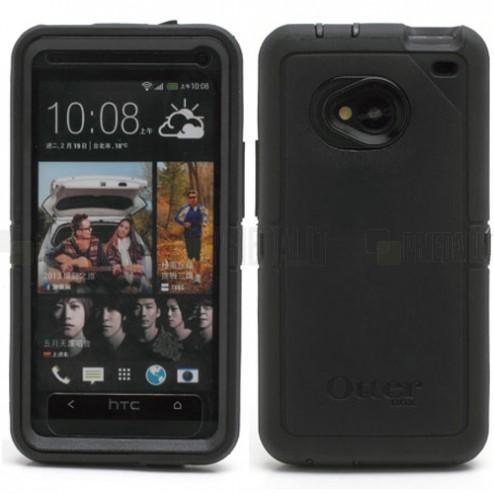 """""""OtterBox"""" Defender HTC One M7 juodas dėklas"""