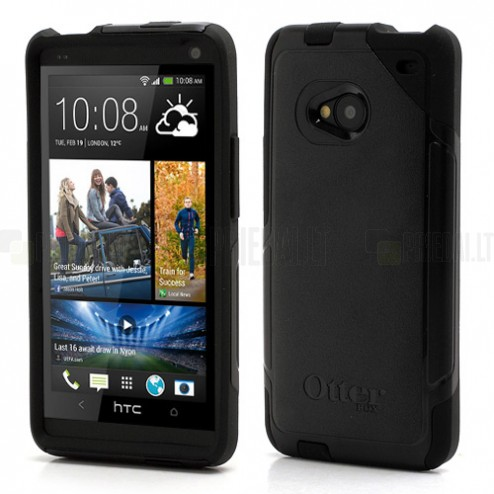 """OtterBox"" Commuter HTC One M7 juodas dėklas"
