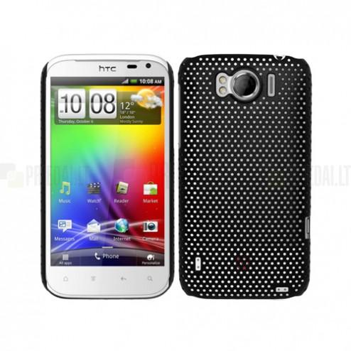 Tinklelio formos HTC Sensation XL juodas dėklas
