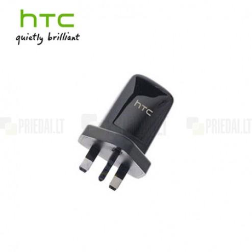 Originalus HTC juodas įkroviklis (UK, Angliškas pakrovėjas, B250)