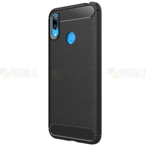 Huawei Y7 2019 (Y7 Prime 2019) kieto silikono TPU juodas dėklas - nugarėlė