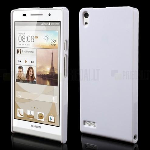 """Plasto Case"" baltas Huawei Ascend P6 dėklas"