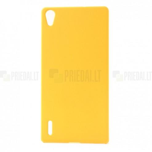 Huawei Ascend P7 plastikinis geltonas dėklas (nugarėlė)