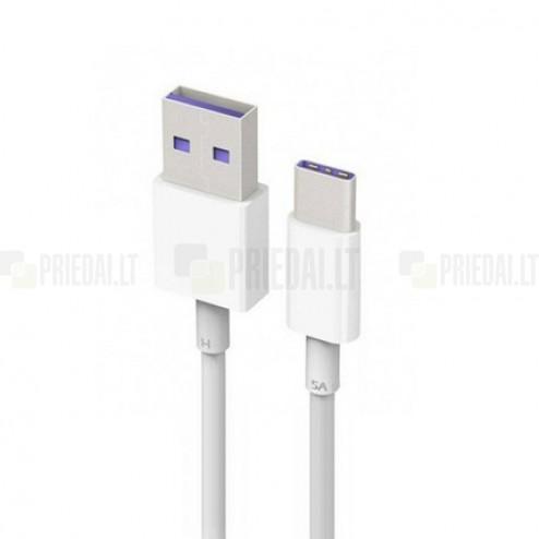 Oficialus Huawei Type-C USB baltas laidas 1 m (AP71, originalus)
