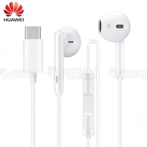 """Huawei"" Classic Earphones originalios (CM33) baltos ausinės"