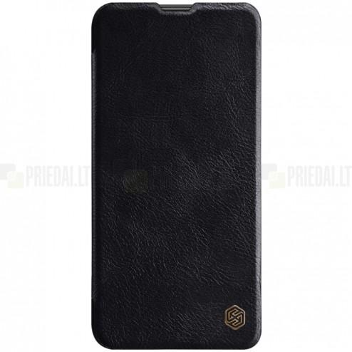 """Prabangus """"Nillkin"""" Qin serijos juodas odinis atverčiamas Huawei Nova 5T (Honor 20) dėklas - knygutė"""